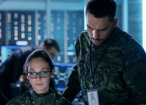 Military on a computer picture