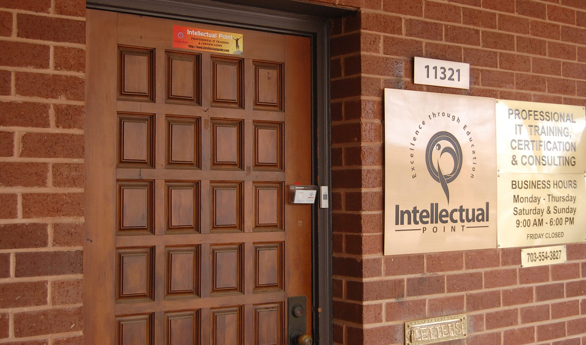 Front Door at Intellectual Point