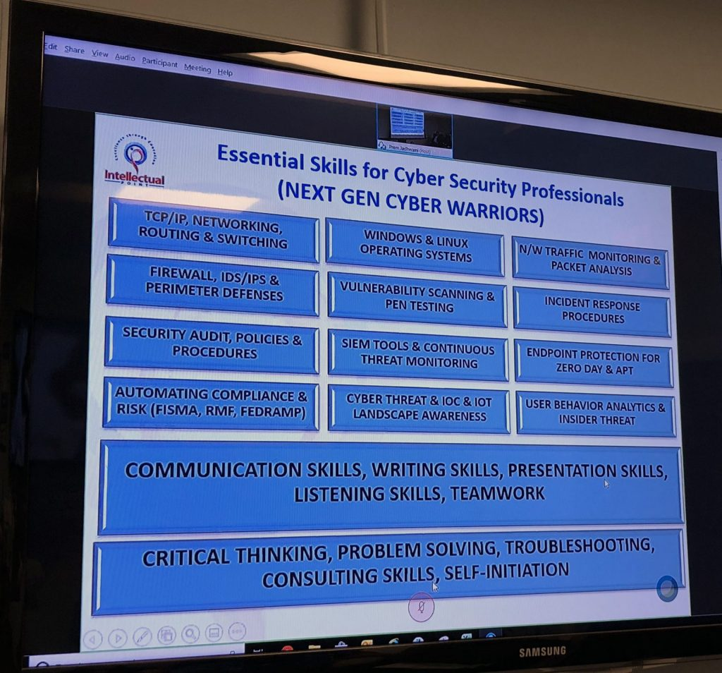 Essential Skills for Cyber Security Professionals Chart